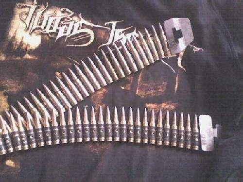 Vendo cinturon de balas originales