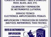 CLASES DE GUITARRA, BAJO, ROCK, BLUES, METAL, CALIBRACION, REPARACION, IMPORTACION, PRODUCCION