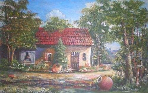 Vendo pintura casa de campo a 100000 pesos facilidades 09.7.859.86.90