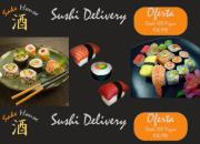 Sushi a domicilio o retiro en stgo centro, efectivo, sodexho, accor. calidad.