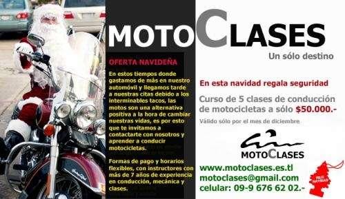 Curso de conducción y servicio de traslado de motos