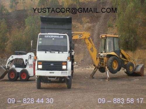 Retiro todo tipo de escombros, venta de aridos, movimiento de tierras, demoliciones, camiones, gato, retroescavadora.
