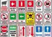 Señaleticas autoadhesivas reglamentarias