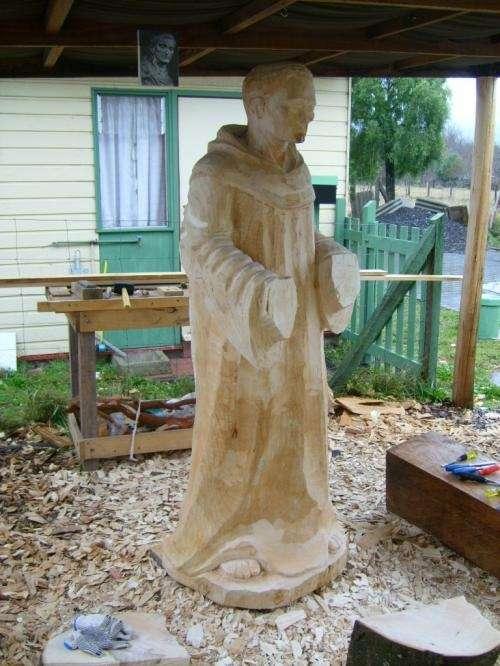 Escultura realizada en madera