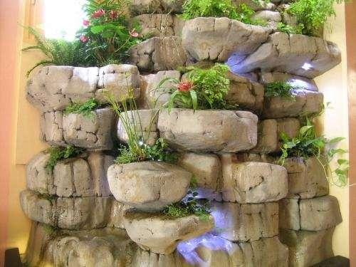 Fuente De Agua Caida De Agua Pared De Agua Cascada Artificial - Diseo-de-fuentes-de-agua