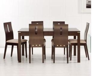 Vendo juego comedor palatin + 6 sillas color cafe moro c/mesa ...