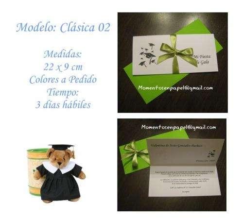 Invitaciones Tarjetas Recuerdos Souvenirs Licenciatura