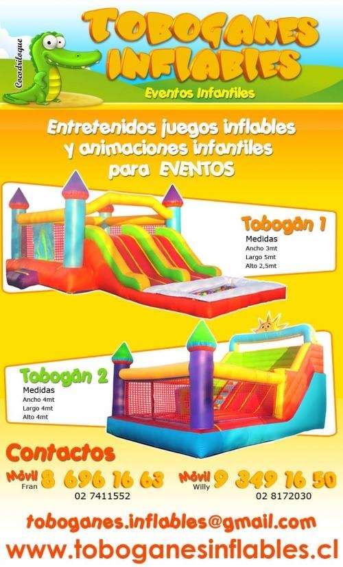 Toboganes inflables infantiles