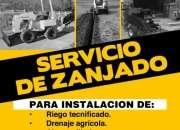 Servicios de zanjadora - excavaciones