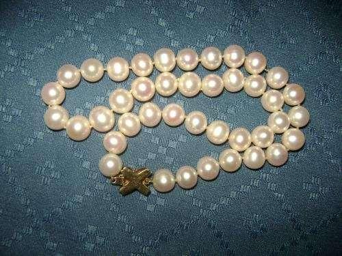 af5ead282077 Collar de perlas cultivadas mas broche de oro 18k. en Región ...