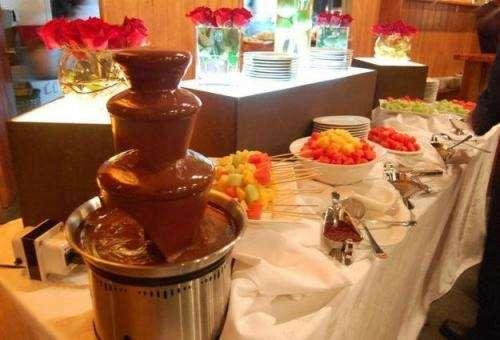 Arriendo de fuente o cascada de chocolate - recreando