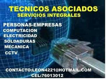 Servicos de mantenciones computacionales-electricas-cctv-soldadura-mecanica en general