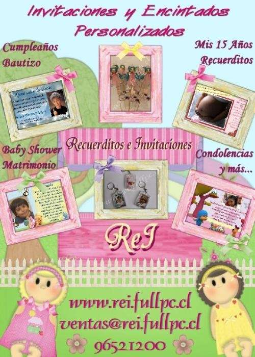 Rei- recuerditos e invitaciones
