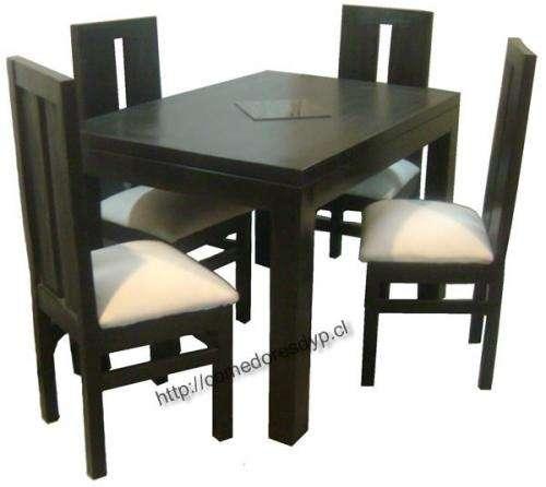 mueble Color Juego Sillas Comedor Mesa Rectangular 120x804 0wmNyvnOP8
