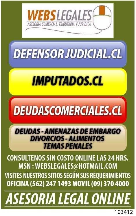 Asesorias legales, no mas deudas, amenazas de embargo, temas de familia, penales