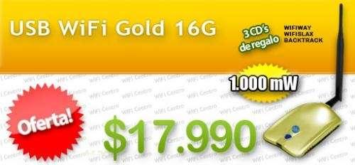 Antenas wifi - usb wifi gold