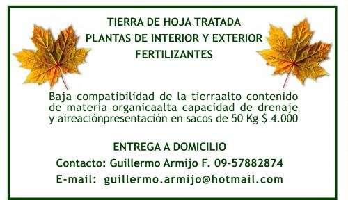 Tierra de hoja tratada plantas de interior y exterior fertilizantes