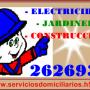 Instalaciones Eléctricas, Servicios Domiciliarias. 2626931 ELECTRICOS S.E.C.