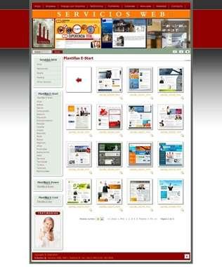 E-start. completo sitio web prediseñado profesional