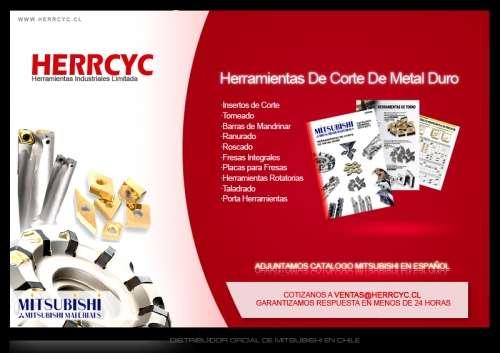 Herrcyc herramientas industriales chile. nuestras marcas y productos. - mitsubishi carbide (japon): insertos de corte para torneado, roscado y ranurado. portas herramientas, fresas y brocas