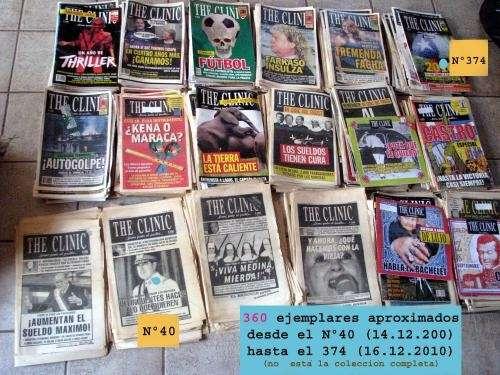 Vendo colección de the clinic, 360 ejemplares 300 mil todo