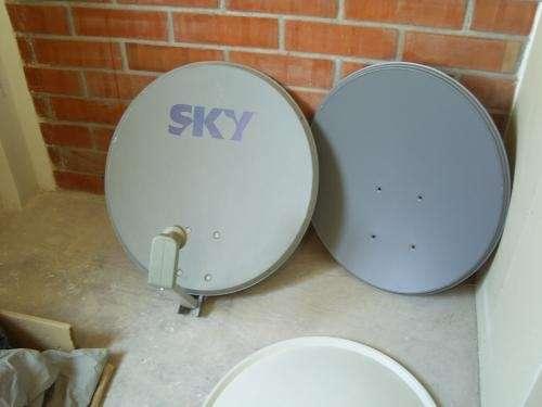Antenas satelitales satelite amazonas y otros, conexion fta y servicios tecnicos