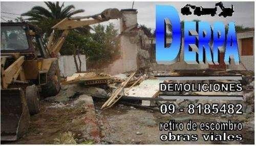 Demoliciones, retiro de escombros