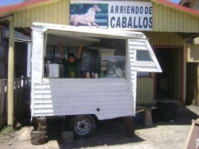 Carro arrastre para venta papas fritas completos etc
