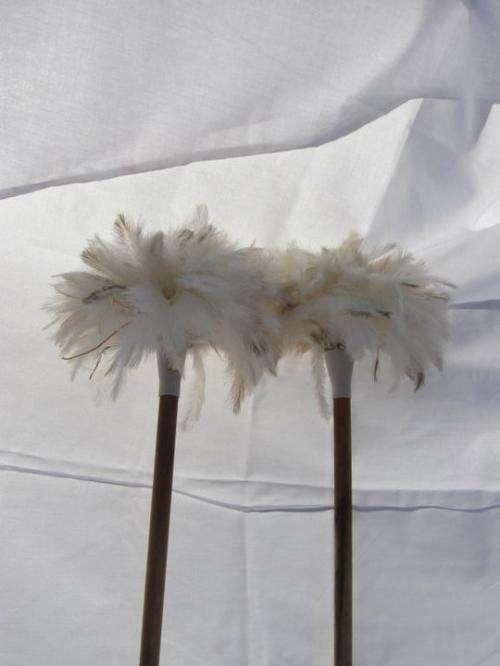 Plumas, plumeros de avestruz y articulos de aseo