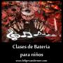Clases de Bateria para niños / Santiago de Chile.