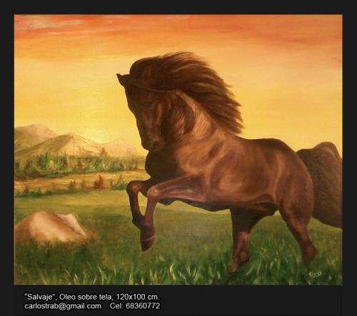 Pintura oleo original caballo