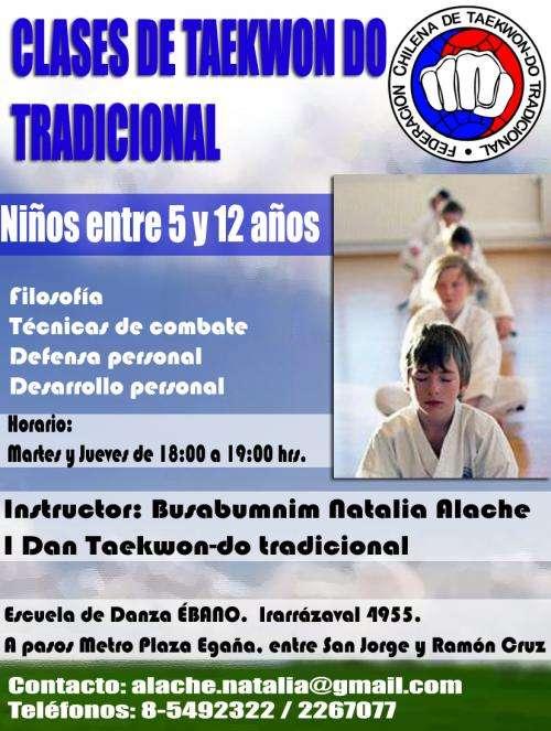 Clases taekwondo tradicional para niños en ñuñoa