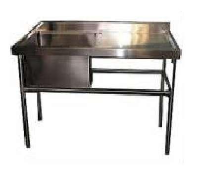 Lavafondos con secador,mesones refrigerados de acero inoxidables.