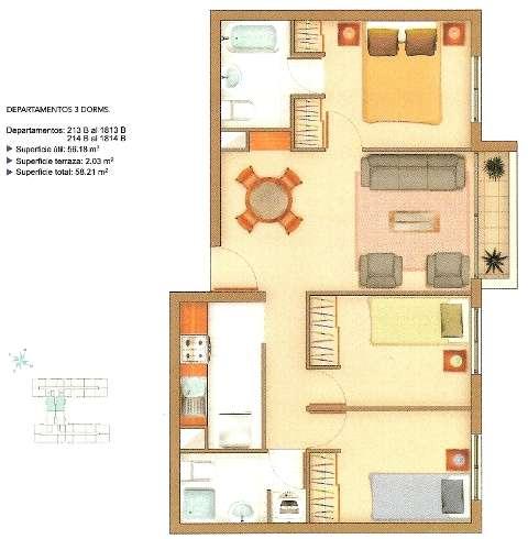 Propietario arrienda departamento con 3 dormitorios, en condominio privado