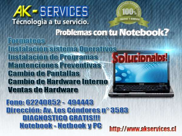 Ak- services servicio técnico informático computacional.