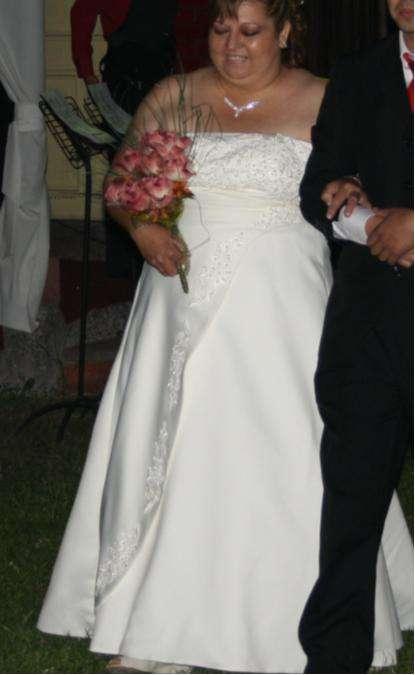 arriendo vestido de novia talla especial t 54-56 en santiago - ropa