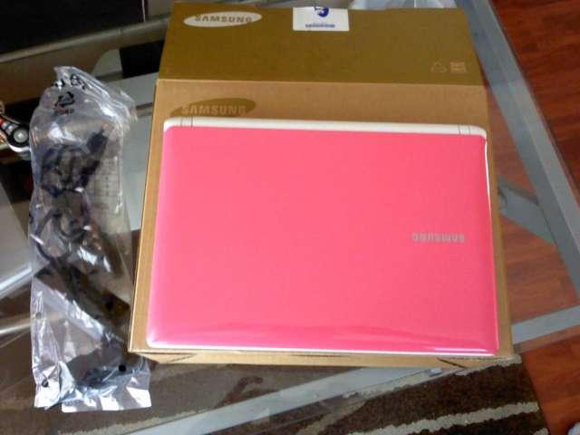 Netbook samsung rosado nuevo de paquete