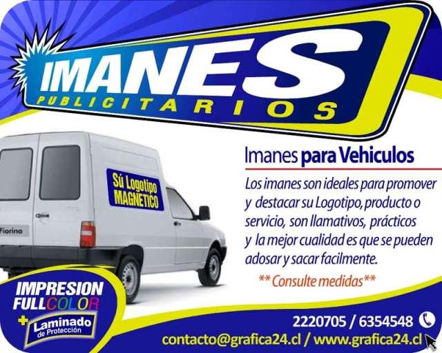 Logotipos magneticos y laminas imantadas para vehiculos