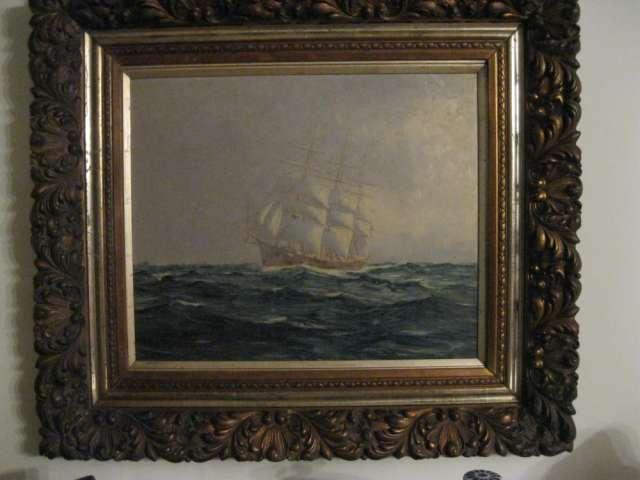 Oleo- marina año 1779 impecable se ofrece