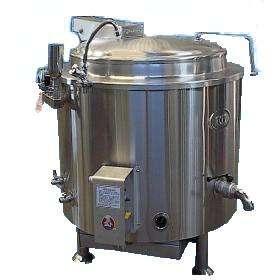 Marmita a gas capacidad 100 litros acero inoxidable