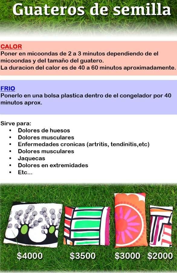 Guateros de semillas (cojines terapeuticos) en Santiago   Salud y