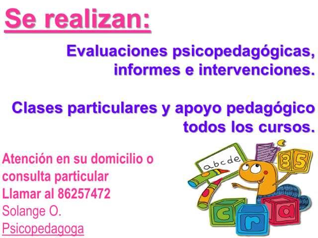 Atención psicopedagogica y clases particulares