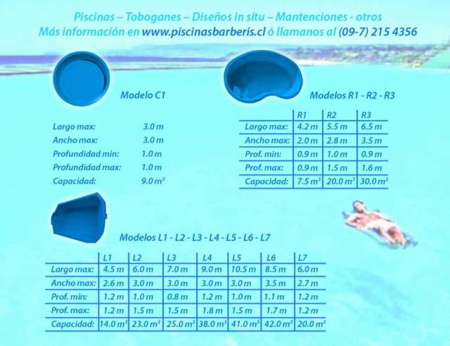 Piscinas de fibra de vidrio stunning piscina estructura for Modelos de piscinas de fibra de vidrio