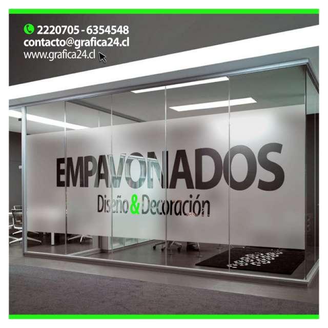 Autoadhesivos logotipos empavonados para vitrinas & publicidad