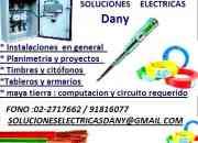 Servicio de electricidad gasfiteria