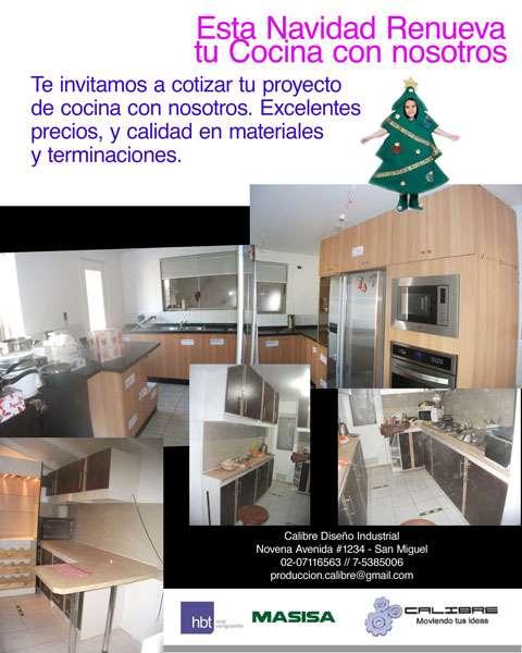 Muebles de cocina proyecto a medida en San Miguel - Otros Servicios ...