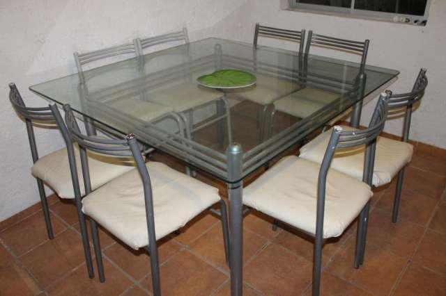 Vendo comedor moderno de vidrio con 8 sillas en Coquimbo - Muebles ...