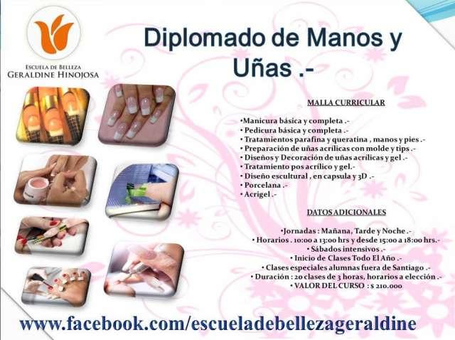 Diplomado de manos y uñas en escuela de belleza geraldine hinojosa