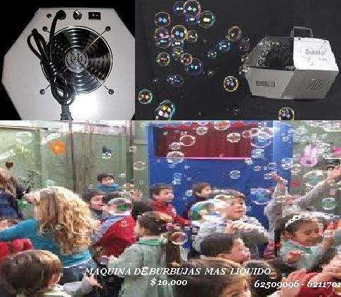 Maquina de burbujas +1 litro de liquido $10.000