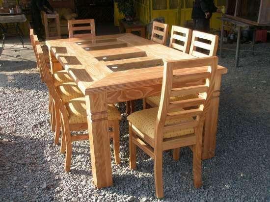 Fabricamos comedores en madera rauli entre otras en Malloa - Muebles ...